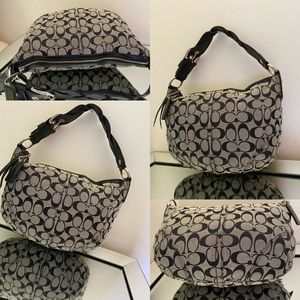 🔥🔥🛍🛍💯 Coach purse with braided leather handle